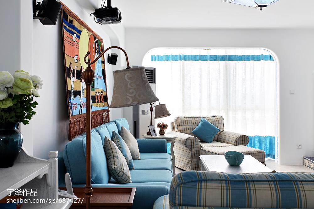 精美101平方三居客厅地中海装饰图片大全客厅地中海客厅设计图片赏析