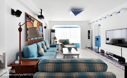 经典地中海风格客厅装修