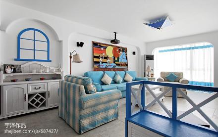 精选地中海三居客厅装修欣赏图片