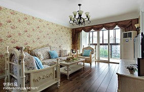 精美面积101平田园三居客厅装饰图