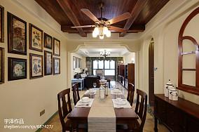美式乡村风格餐厅效果图欣赏厨房美式经典餐厅设计图片赏析