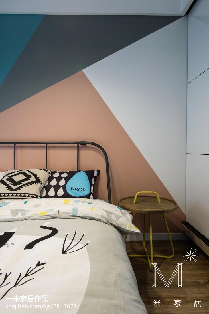 2018精选100平米三居卧室现代装修欣赏图片卧室现代简约卧室设计图片赏析