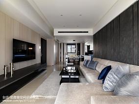 2018精选90平大小客厅三居现代装修效果图