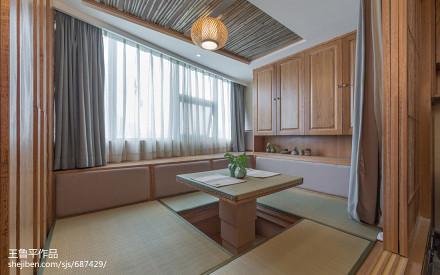 面积74平小户型卧室日式装修实景图卧室