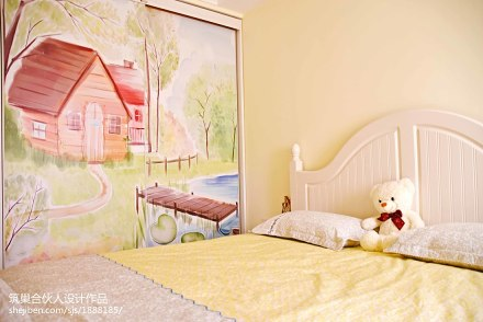 精选108平米三居卧室美式装修图