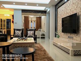 热门面积97平中式三居客厅装饰图片