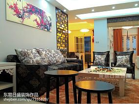 热门103平米三居客厅中式装饰图