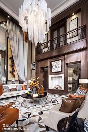 2018面积125平别墅客厅欧式装修图片大全别墅豪宅欧式豪华家装装修案例效果图