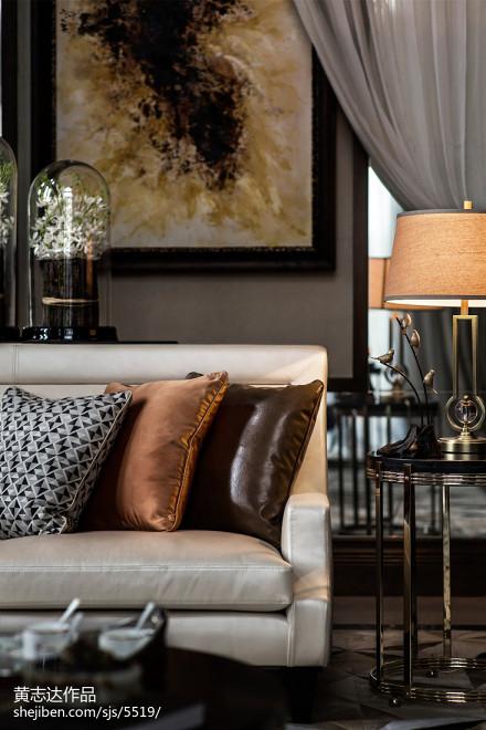热门110平方欧式别墅客厅装修设计效果图片大全