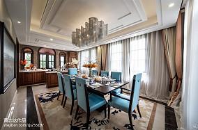 热门132平米欧式别墅餐厅装修实景图片