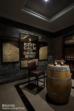 欧式豪华别墅酒窖设计别墅豪宅欧式豪华家装装修案例效果图