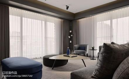 2018精选76平方二居客厅现代设计效果图
