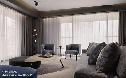 精美大小78平现代二居客厅装修设计效果图片