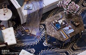 2018客厅欧式装修效果图片大全样板间欧式豪华家装装修案例效果图