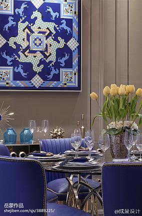 餐厅欧式设计效果图样板间欧式豪华家装装修案例效果图