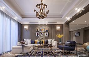 华丽欧式客厅设计案例样板间欧式豪华家装装修案例效果图