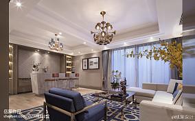 欧式风格样板房客厅设计家装装修案例效果图
