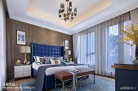 蓝色系欧式卧室装饰图样板间欧式豪华家装装修案例效果图