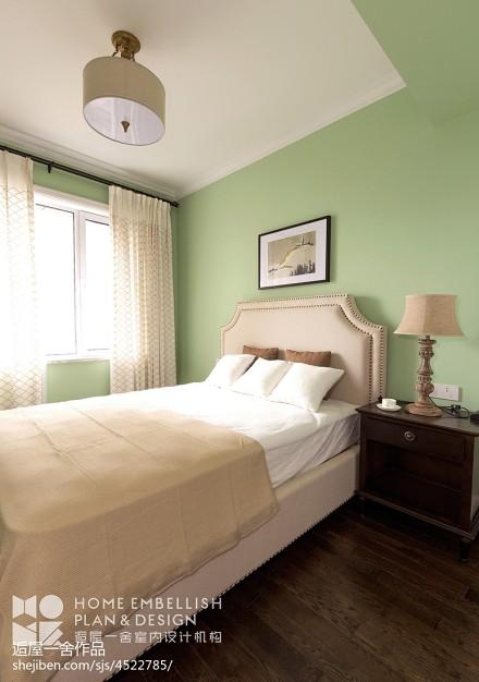 质朴86平美式三居卧室设计图卧室