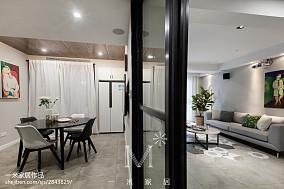 热门面积107平现代三居餐厅装修图片