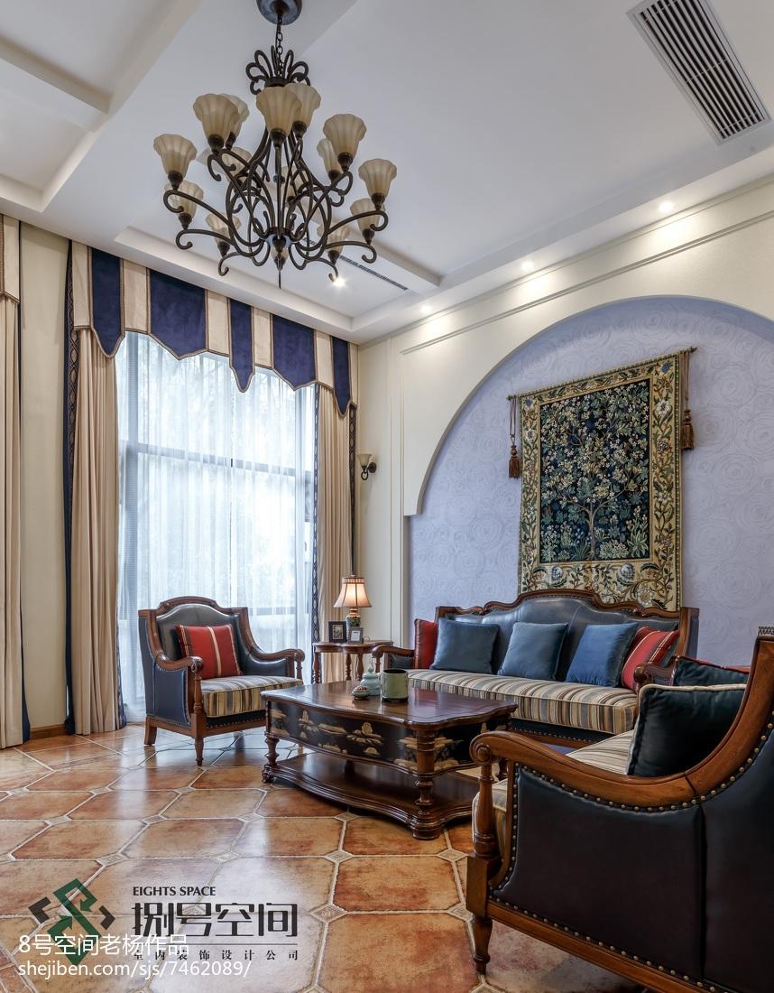 热门120平米地中海别墅客厅装修实景图片欣赏客厅地中海客厅设计图片赏析