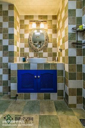 面积128平别墅卫生间地中海装修实景图片