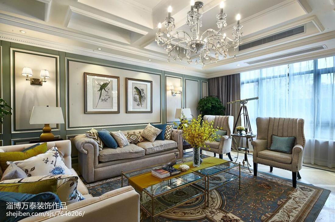 别墅新古典风格客厅效果图客厅美式经典客厅设计图片赏析