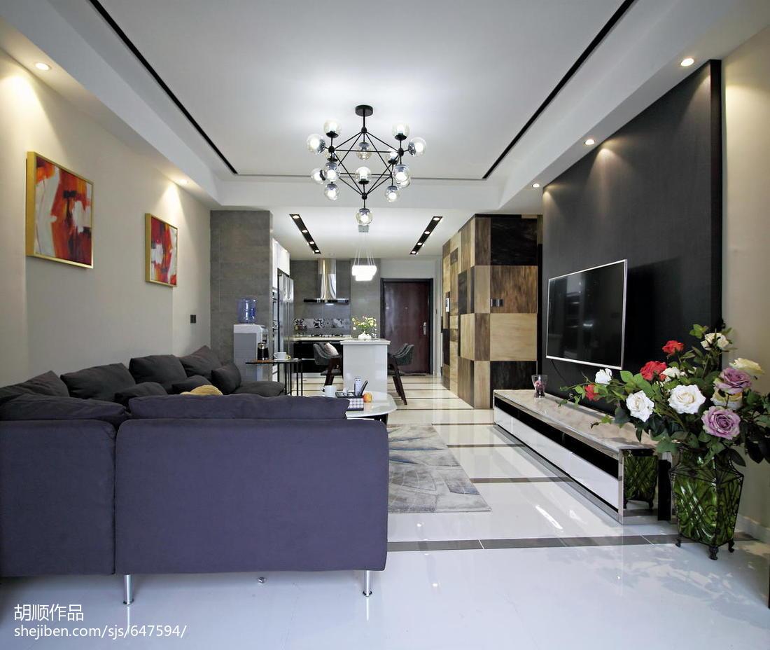 质朴150平现代复式效果图片大全客厅现代简约客厅设计图片赏析