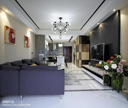 质朴150平现代复式效果图片大全客厅