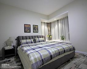 华丽74平现代复式卧室实拍图复式现代简约家装装修案例效果图