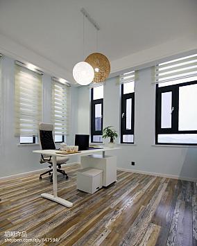 轻奢84平现代复式书房图片大全复式现代简约家装装修案例效果图