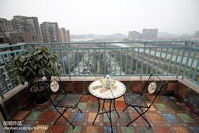 温馨45平现代复式阳台实景图复式现代简约家装装修案例效果图
