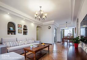 精美面积93平田园三居客厅装修设计效果图片