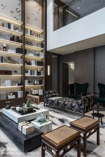 精选130平米中式别墅客厅效果图片