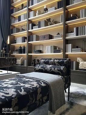 2018精选中式别墅客厅装饰图别墅豪宅中式现代家装装修案例效果图