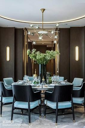 精选面积126平别墅餐厅中式装修图片大全别墅豪宅中式现代家装装修案例效果图