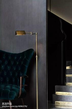 精选面积139平别墅客厅中式装修欣赏图别墅豪宅中式现代家装装修案例效果图