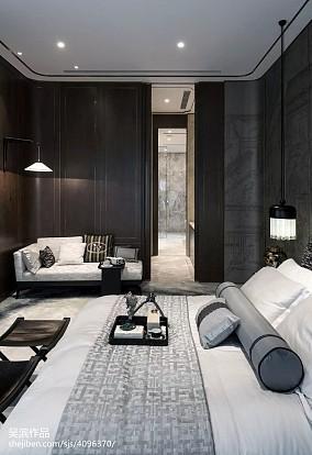 142平米中式别墅卧室效果图片大全别墅豪宅中式现代家装装修案例效果图