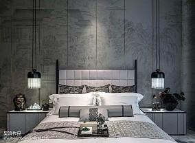 热门114平米中式别墅卧室效果图片别墅豪宅中式现代家装装修案例效果图