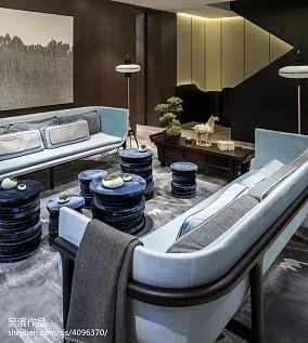 2018大小115平别墅客厅中式装修欣赏图片大全
