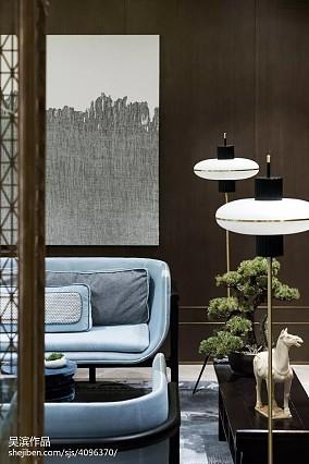 平方中式别墅客厅欣赏图片别墅豪宅中式现代家装装修案例效果图