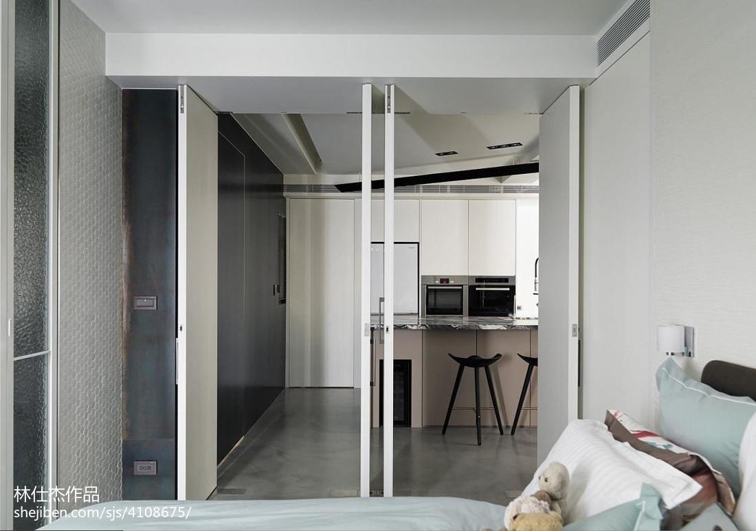 精美90平方三居卧室现代装修实景图卧室