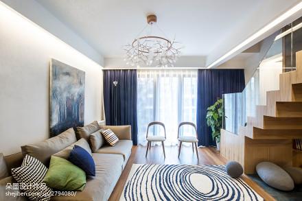 精选114平米简约复式客厅实景图片