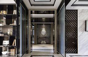 精美过道中式设计效果图样板间中式现代家装装修案例效果图