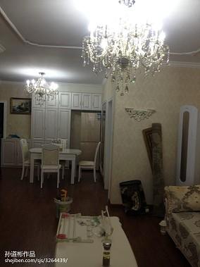 华丽69平欧式二居餐厅实景图81-100m²二居欧式豪华家装装修案例效果图