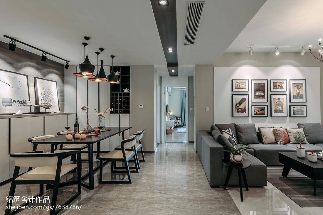 文艺现代风格过道效果图客厅现代简约客厅设计图片赏析