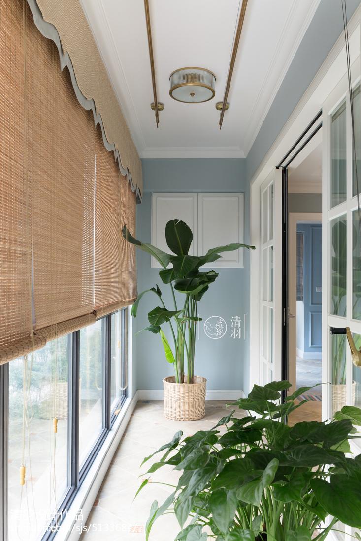 精美133平米四居阳台美式装修效果图阳台美式经典阳台设计图片赏析
