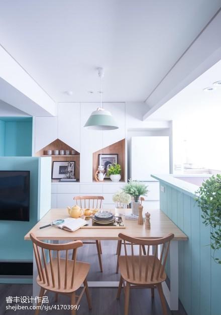 精美109平米三居餐厅北欧装修实景图片大全厨房