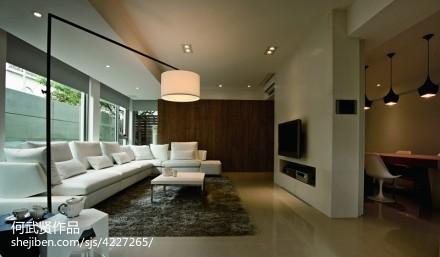 精美83平米二居客厅简约欣赏图片二居现代简约家装装修案例效果图