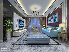 时尚质感北欧风格三居室装修效果图